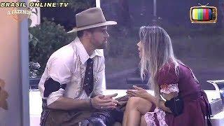 A Fazenda - Flávia discute com Marcelo por ele não contar o que falaram estava fora da sede. 04/11/