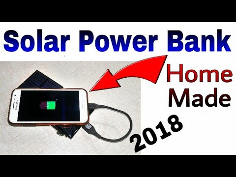 Solar Rechargeable Power Bank || 4V battery || Power Bank, Solar Panel || Learn everyone