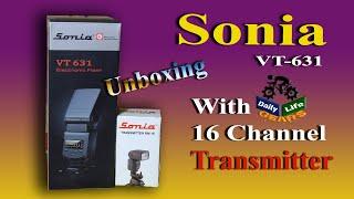 Sonia Flash VT631 With Trigger Wireless Flash Manual Flash