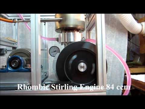 Rhombic Stirling Engine 235 Watt data logging with Arduino