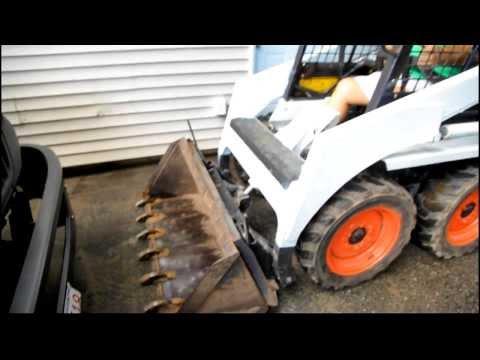 Bobcat forklift & bucket demonstration