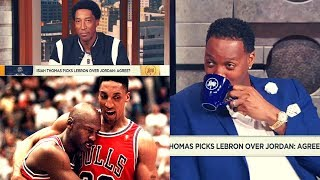 Scottie Pippen ENDS The MJ-Lebron Debate!! The History Of His BEEF With Isiah Thomas!