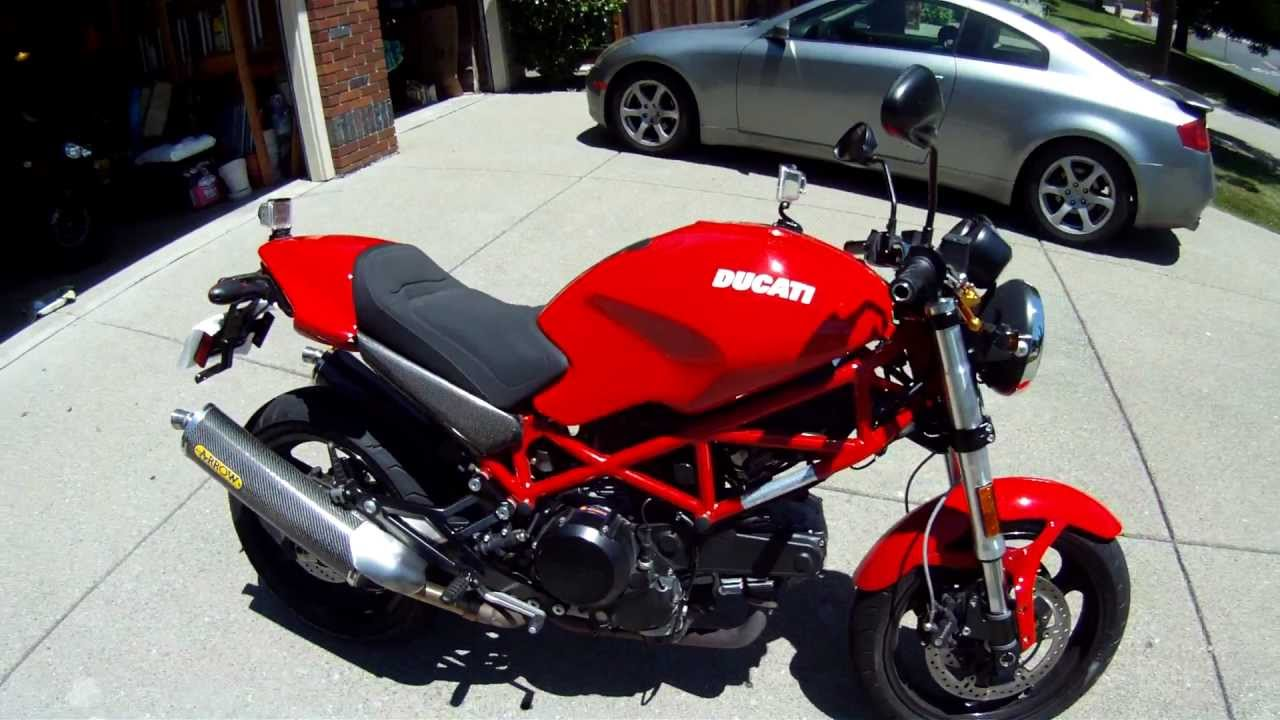 ducati monster 695 walk around w/ arrows and crg levers - youtube