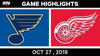 NHL Highlights   Blues vs. Red Wings – Oct. 27, 2019