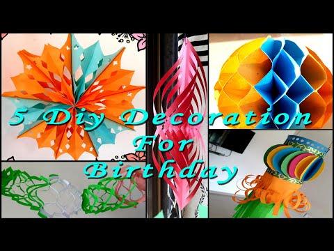 5 DIY  Birthday Decoration Ideas At Home