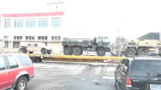Raw footage of military rail transport through Portland Oregon (with commentary)