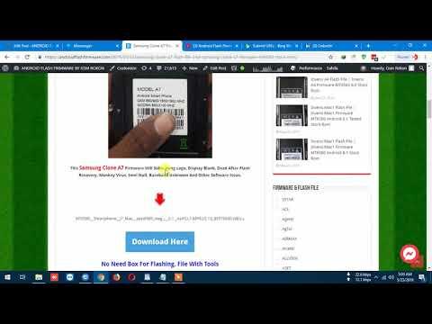 Samsung Clone A7 Flash File 2nd | Samsung Clone A7 Firmware