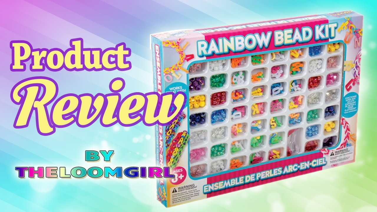 review of rainbow bead kit letters and beads for rainbow loom and for any loom youtube
