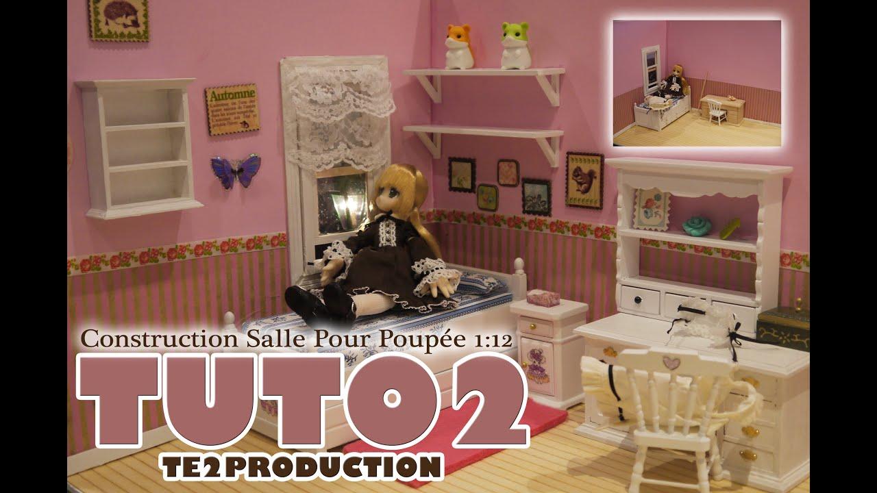 Tutorial salle chambre de poup e chelle 1 12 me partie 2 for Chambre translation