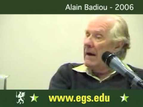 Alain Badiou. Democracy, Politics and Philosophy 2006 5/5