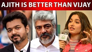 Ajith Is Better Than Vijay For Me Tamannaah Opens Up….!