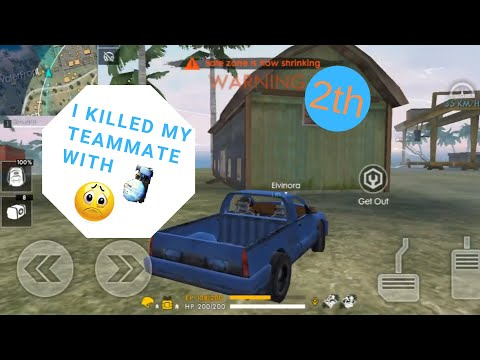 I killed my teammate with gloo wall :(... Free fire battlegrounds!!