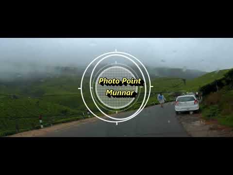 Amazing Munnar Drive Tea garden Landscape kerala India  - Monsoon  drive 2017