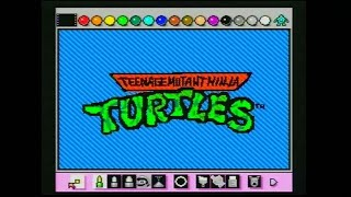 Teenage Mutant Ninja Turtles Intro Animated with Mario Paint by Mike Matei