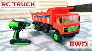 How To Make 1:16 Scale Rc Truck At Home | 8WD | Homemade | Rc Adventure |
