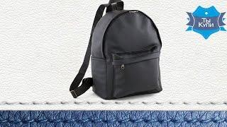 1ab823deaae0 Женский городской рюкзак из кожзама Fancy черный матовый. Купить в Украине.  Обзор