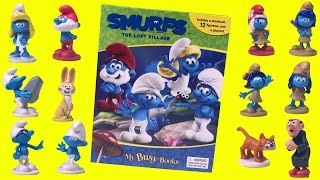Smurfs: The Lost Village ~ My Busy Books ~ Story Book Figurine Toys and Playmat