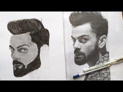 Virat Kohli Sketch Virat Kohli Drawing By