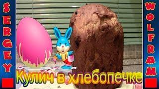Кулич в хлебопечке Panasonic SD 2501 WTS(Cake in the the bread maker)