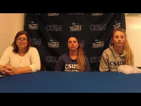 2017 CCAA Volleyball Championship Quarterfinal #4 - Cal State San Bernardino post-game