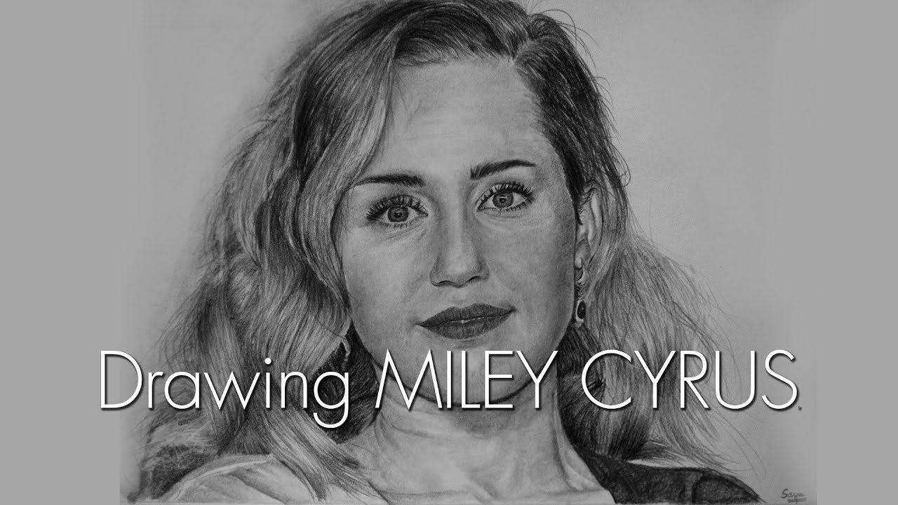 Miley Cyrus Portrait Drawing Birthday Special Youtube