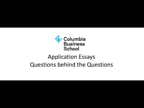 "Columbia #MBA Application Essay: ""What is your immediate post-MBA professional goal?"""