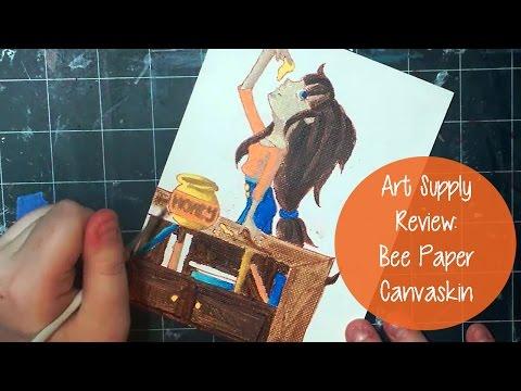 ART SUPPLY REVIEW! Bee Paper Canvaskin & Speedpaint