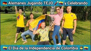 Alemanes Jugando Tejo para celebrar el 20 de Julio, el Día de la Independencia de Colombia ??