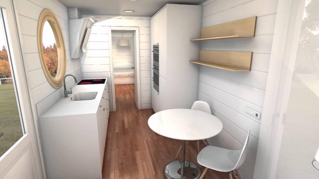 Casa container 40pies 27m2 youtube for Ideas de decoracion de interiores baratas