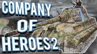 KING TIGER DEFENSE! MASSIVE TANK ACTION - COMPANY OF HEROES 2 Multiplayer Gameplay 4v4