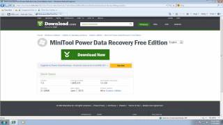 Download MiniTool Power Data Recovery to Recover RAW File System Disk