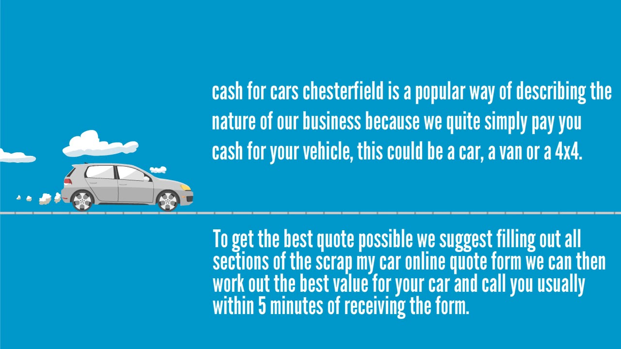 Quick Car Sale in Chesterfield Cash For Cars - YouTube