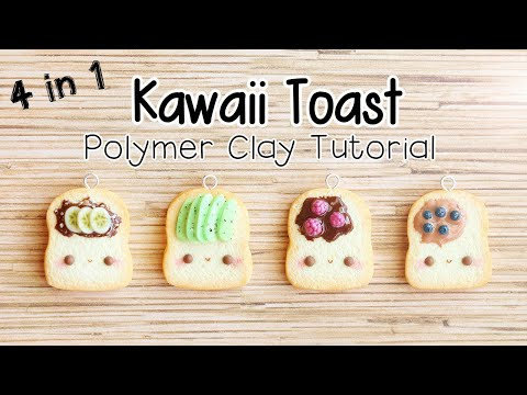 Kawaii Toast Charms│Polymer Clay Tutorial