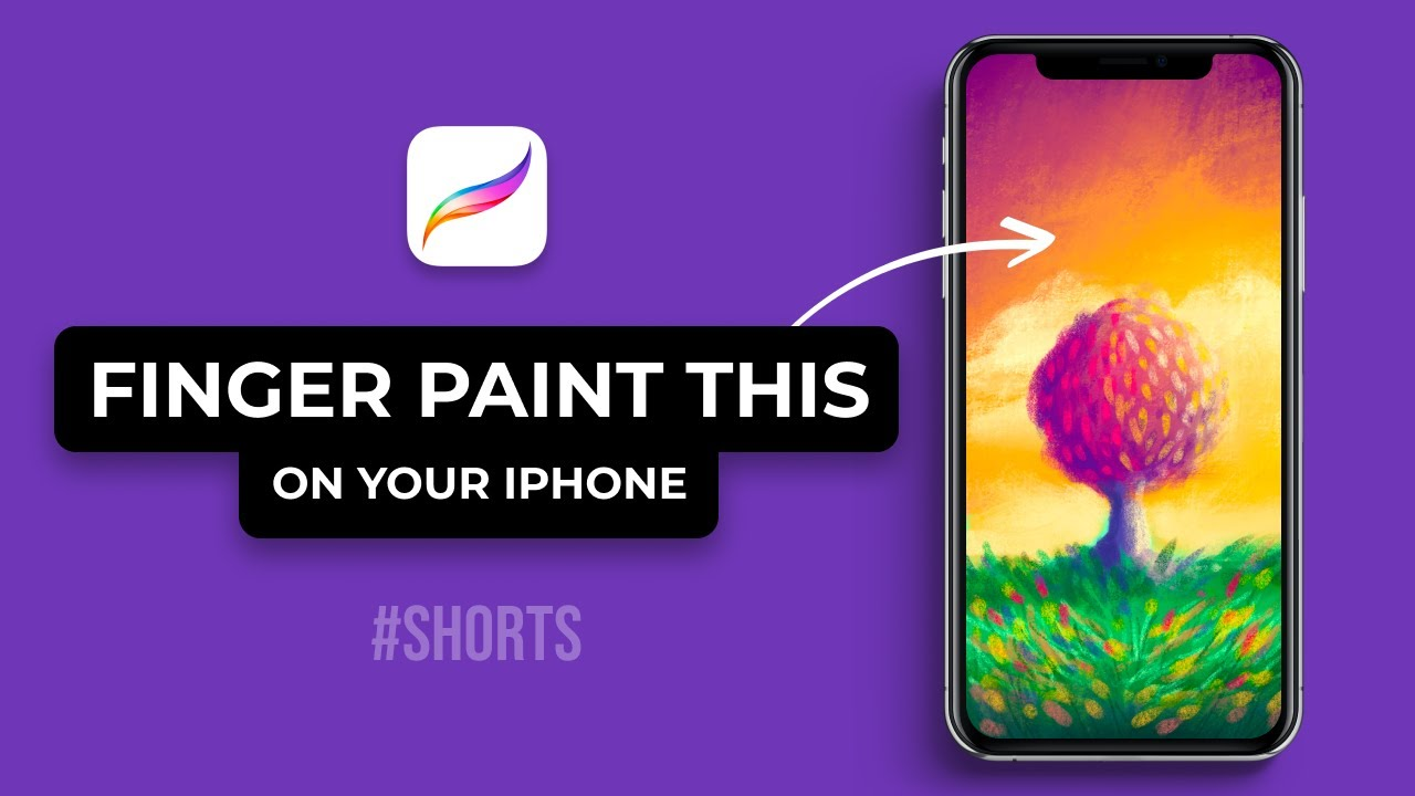 How To Finger Paint On Your iPhone Using Pocket Procreate (#Shorts)