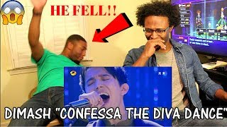 Dimash - Confessa + The Diva Dance (REACTION)
