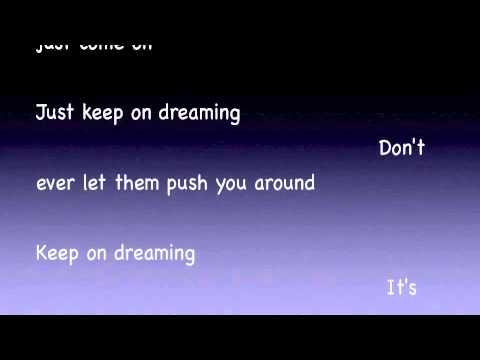 keep on dreaming lyric video