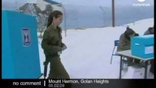 Soldiers voting for Israel