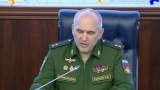 Брифинг МО РФ: Мораторий на авиаудары вокруг Алеппо будет продлен 25 .10.2016