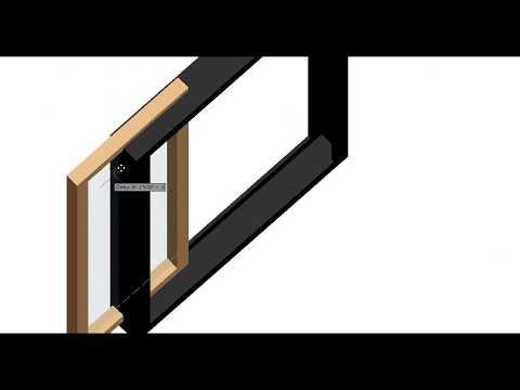 AUTOCAD 3D MODEL SLIDING WINDOW ON SPECIAL DEMAND UNCUT(1 min.)