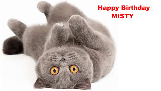 Misty  Cats Gatos - Happy Birthday