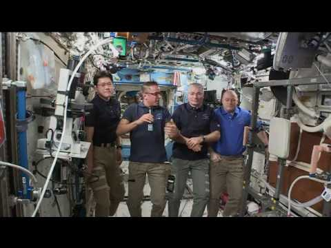 Space Station Crew Discusses Life in Space with a Media Outlet