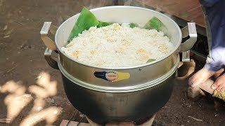 Amazing Cooking Sticky Rice W Banana & Coconut  Recipe -  Cook Sticky Recipes  -Village Food Factory