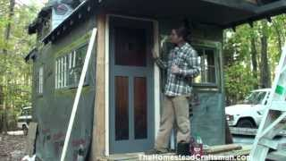 Handmade Exterior Wood Door - Tiny House