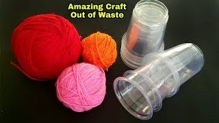 Best Reuse Of Disposable Cups and Wool | New Way Of Reusing Waste