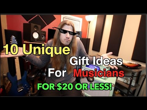 10 Unique Gifts For Musicians For $20 or Less!!