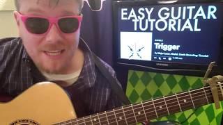 Trigger - Khalid, Major Lazer // Guitar Lesson Beginner Tutorial Easy Chords Strumming Tabs