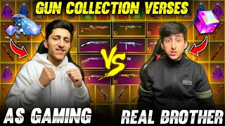 A_s Gaming Vs Real Brother Gun Collection War😍 Who Will Win Best Match - Garena Free Fire