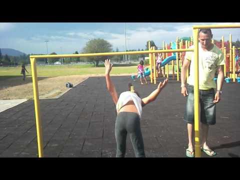 Anna doing a flip