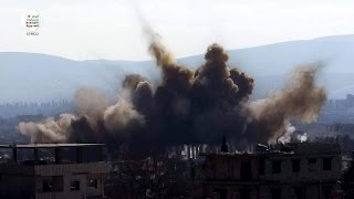الأسد يدمر مستشفى داريا الميداني الوحيد بقنابل حارقة