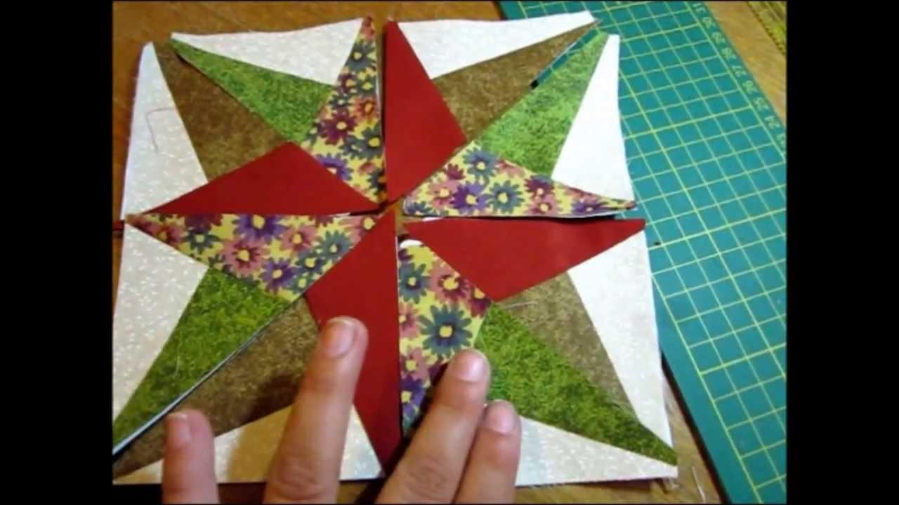 Tutorial Blazing Star by Roseli Barbosa (Lolla Crafts) - YouTube : blazing star quilt - Adamdwight.com